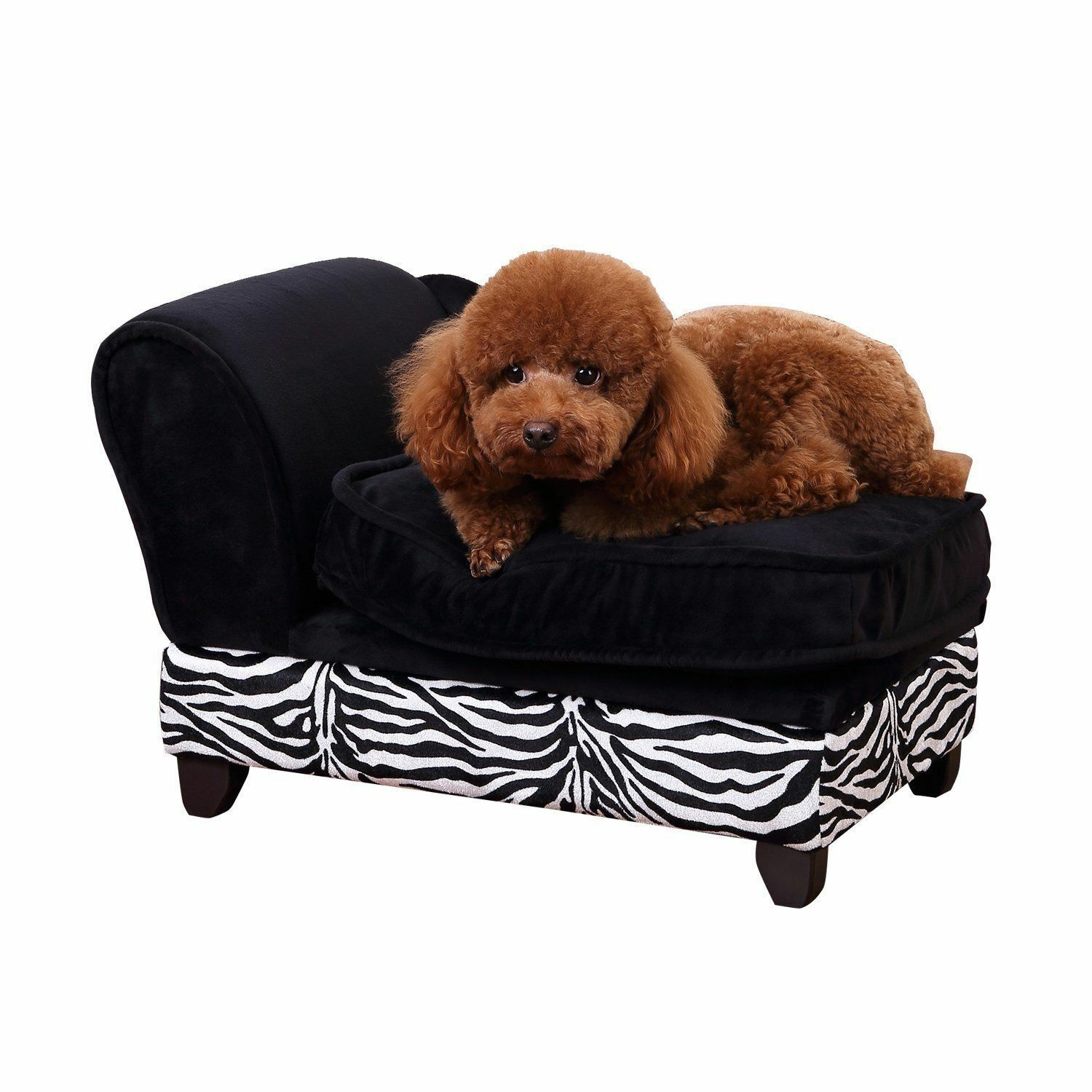Swell Pawhut Luxury Pet Sofa Storage Dog Bed Chaise Lounge Puppy Cat Kitten Lounger Andrewgaddart Wooden Chair Designs For Living Room Andrewgaddartcom