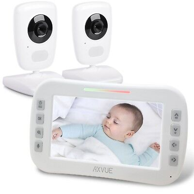 AXVUE E632 Video Baby Monitor with Two Cameras and 5 LCD, Ni