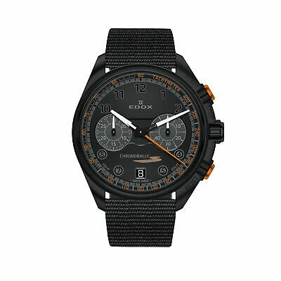 Edox 09503 37NNONAN NNO Men's Chronorally Black Quartz Watch