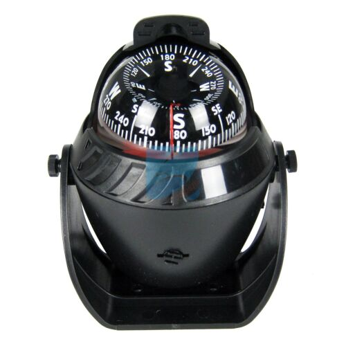 Marine Boat Navigation Compass LED Light for Sail Ship Vehicle Car Black