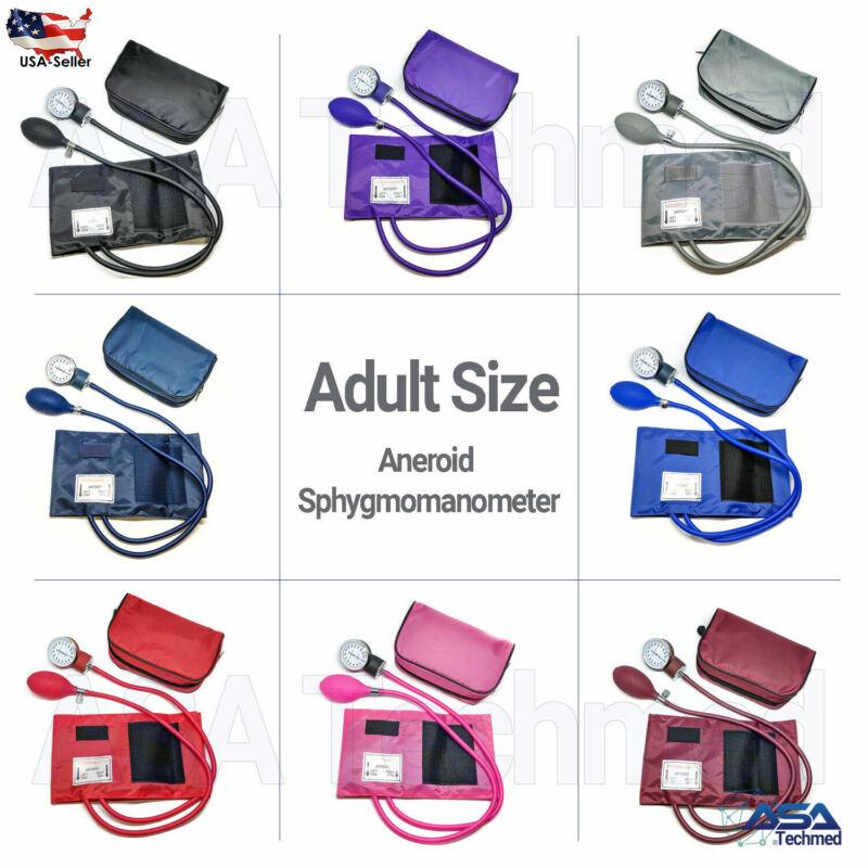 Manual Blood Pressure Monitor Bp Cuff Gauge Aneroid Sphygmomanometer Machine Kit