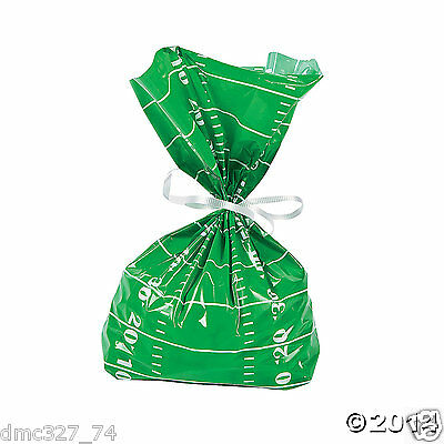 24 Super Bowl TAILGATE Party Favors FOOTBALL FIELD CELLO Goody TREAT BAGS](Super Bowl Favor)
