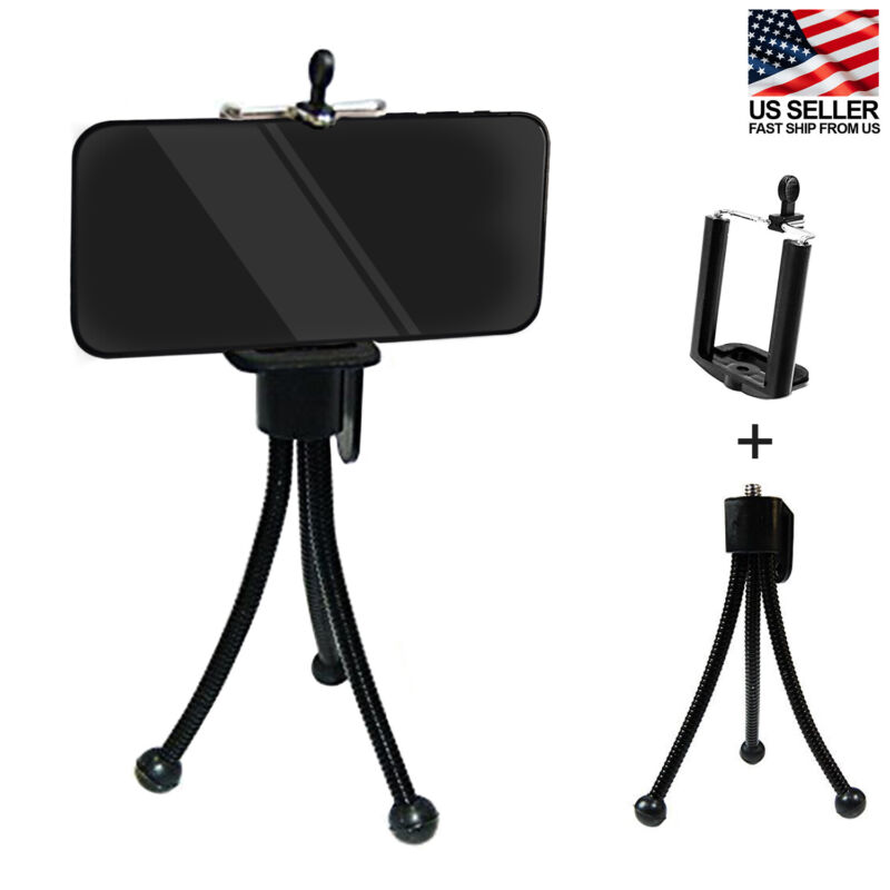 Pocket Size Flexible Gripping Mini Tripod Stand With Universal Smartphone Mount