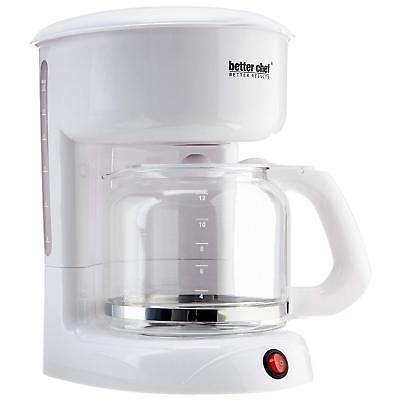 Better Chef IM-111W 12 Cup Coffeemaker White W/Removable Filter Basket