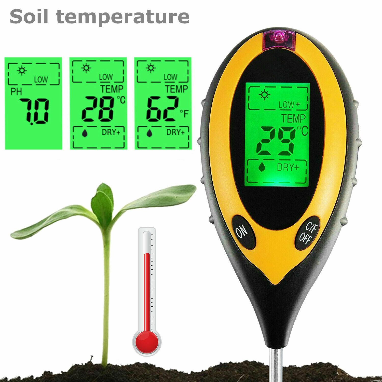 4 in 1 PH Tester Soil Water Moisture Light Test Meter for Garden Plant Seeding Home & Garden