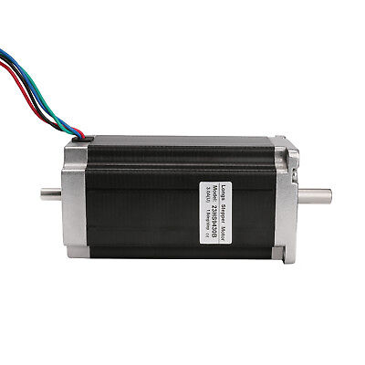 Nema23 Stepperstepping Motor 425 Oz-in Dual Shaft 3.0a 2 Phase 112mm Cnc