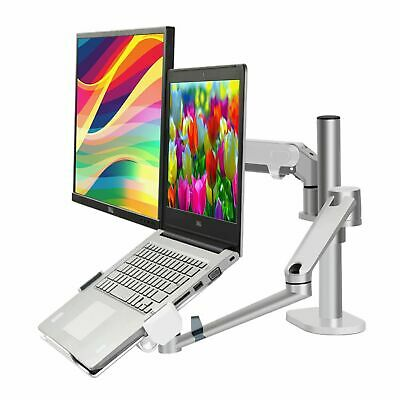 Height Adjustable Monitor10-27 Laptop10-17 Desk Stand With Gas Spring Arm