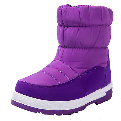 kids boys girls Winter Waterproof snow boots Plush lined Warm Non slip shoes