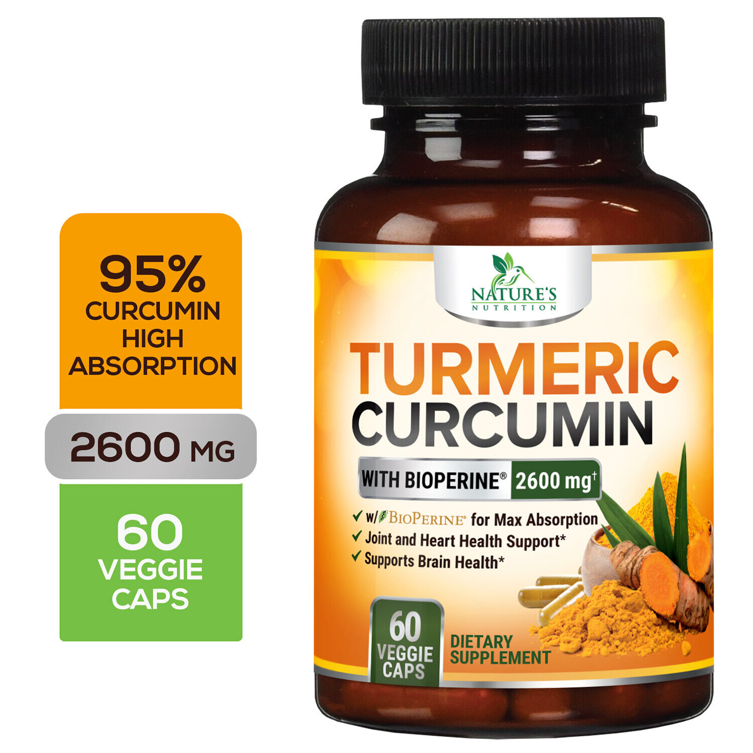 Turmeric Curcumin with Bioperine 2600mg High Absorption Trip