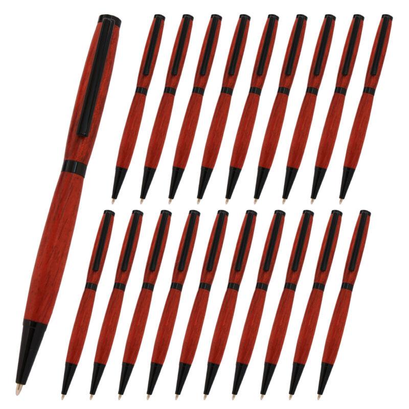 Slimline Pen Kit, Black Chrome Finish, Pack of 20, Legacy Woodturning