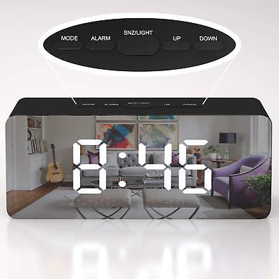 Creative LED Digital Alarm Clock Night Light Thermometer Display Mirror Lamp Hot (Alarm Clock Creative)