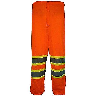 Ansi Class E Hi-vis Mesh Safety High Visibility 3m Reflective Pants Small Medium