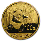 1/4 oz Gold Panda Coin