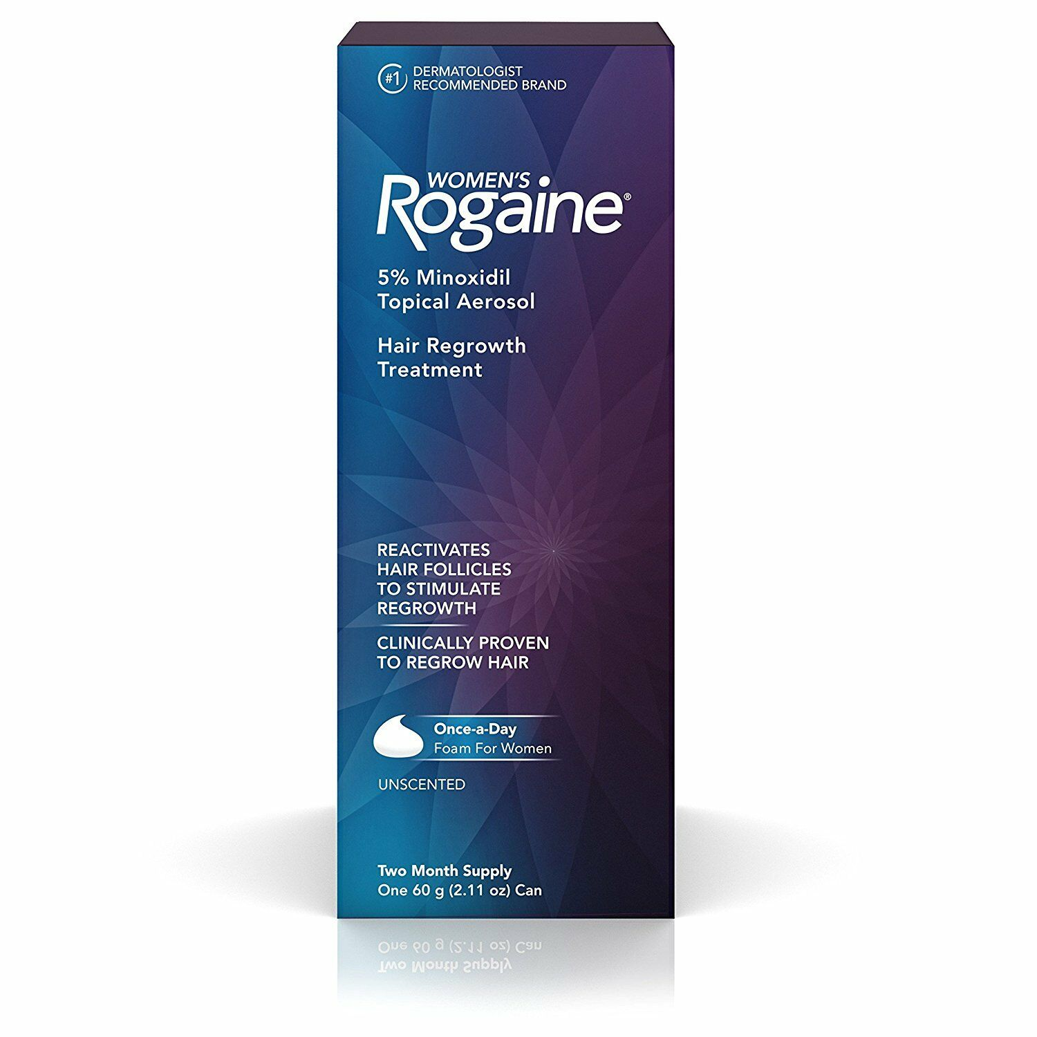 Rogaine Womens OnceADay Foam Two Month Supply Womens Once A