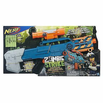 NEW Nerf Gun Zombie Strike ZED Squad Longshot CS-12 Blaster scope