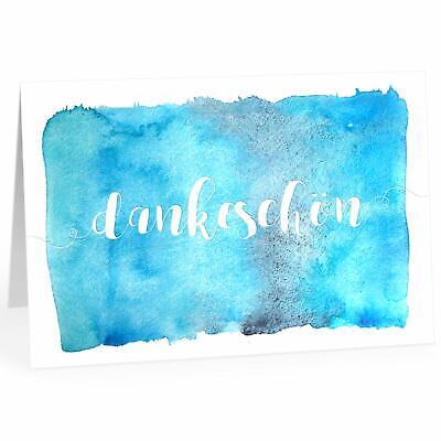 Große Dankeskarte XXL A4 als Dankeschön Klappkarte mit Umschlag türkis