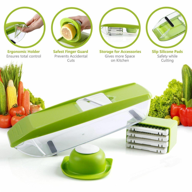 12 PC Super Slicer Plus Vegetable Fruit Peeler Dicer Cutter