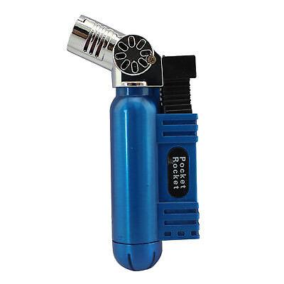 Pocket Rocket Single Jet Flame Butane Cigarette Cigar Torch Lighter - Blue