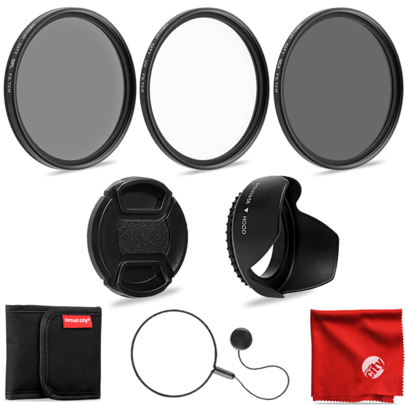 Circuit City 58mm Filter Kit  UV, CPL, ND4 for Canon & Nikon Lens & Accessories