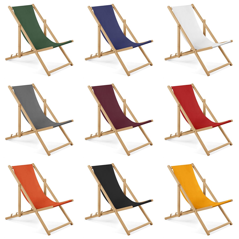 Gartenliege aus Holz Liegestuhl Relaxliege Strandliege GRATIS Absicherungssystem