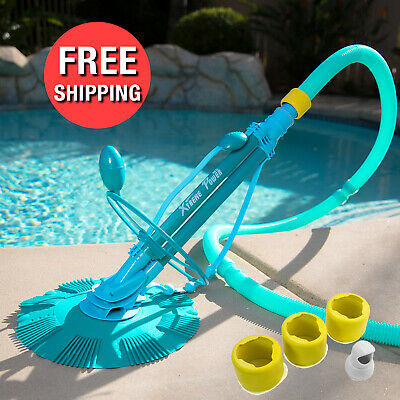Automatic Swimming Pool Vacuum Cleaner Ground Above Ground w Complete Hose Set