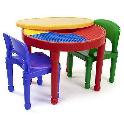 Kids Activity Table Lego Surface for Duplo and Small Legos Toddlers Playing