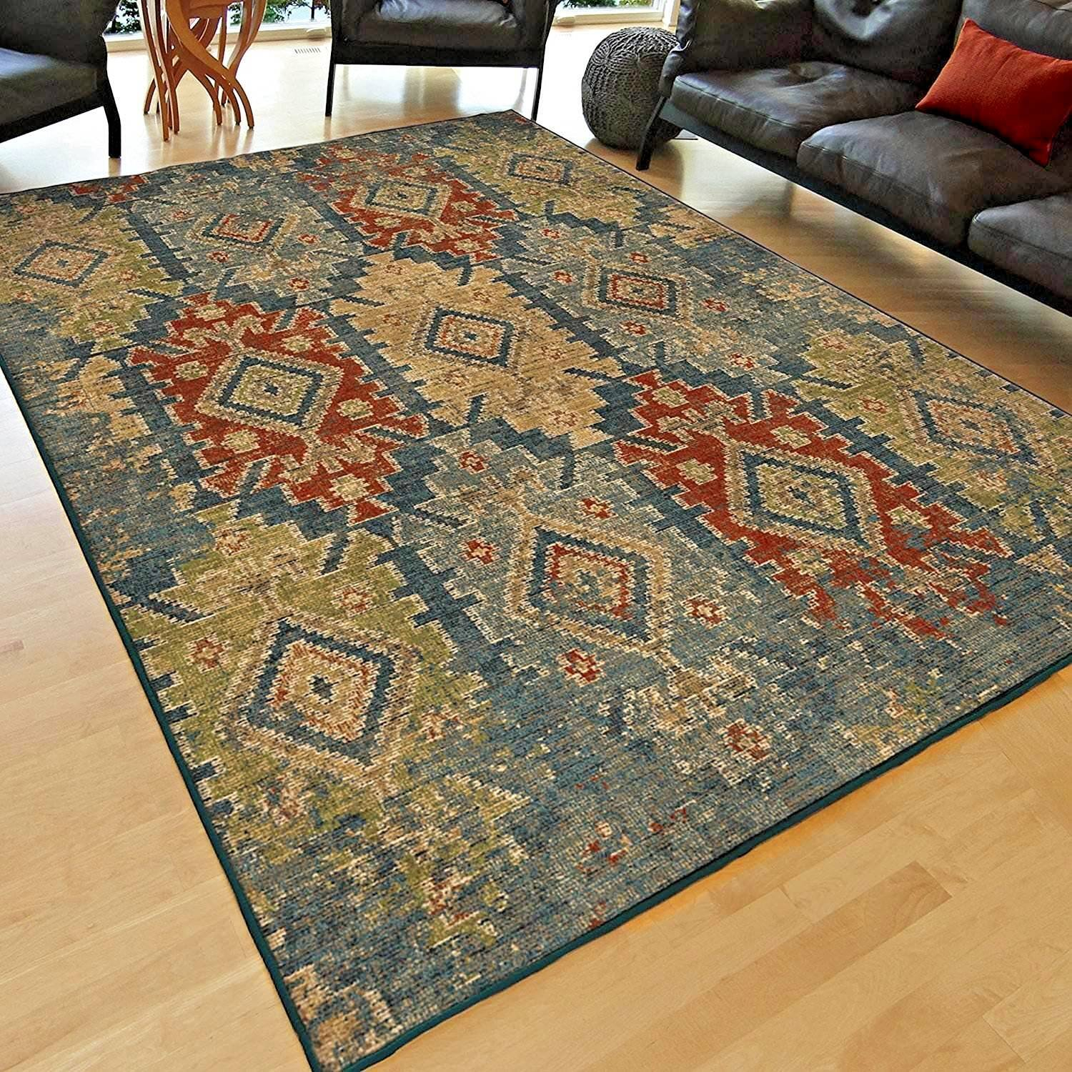 Details About Rugs Area Rugs Carpet 8x10 Area Rug Floor Big Modern Large Living Room Blue Rugs