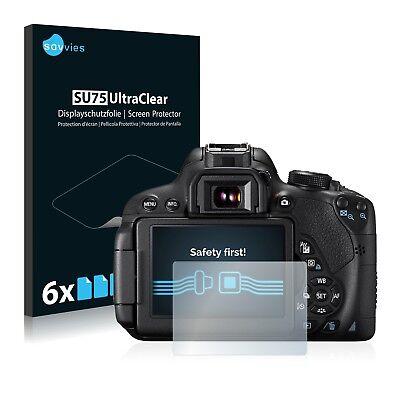 6x Displayschutzfolie für Canon EOS 700D Schutzfolie Klar Folie Displayfolie