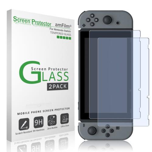Nintendo Switch amFilm Premium Tempered Glass Screen Protector (2 Pack)