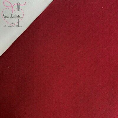 Wine 100% Craft Cotton Solid Fabric Plain Red Material