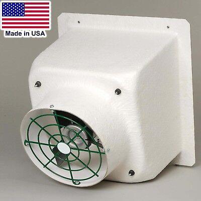 12 Fiberglass Exhaust Fan - 1858 Cfm - 115230v - 1 Ph - Poly Blades Shutter