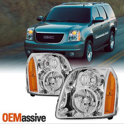 Fit 2007-2014 GMC Yukon/XL/Hybrid Replacement Headlights Headlamps L + R