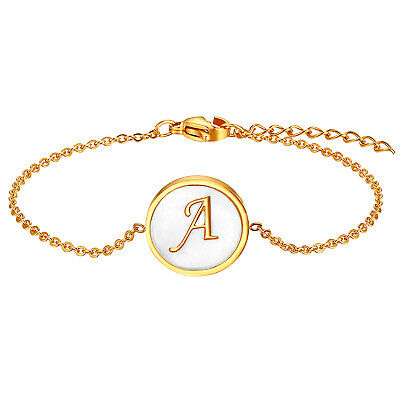Women's A-Z Initial Letter Alphabet Tag Adjustable Bracelet Anklet Chain -