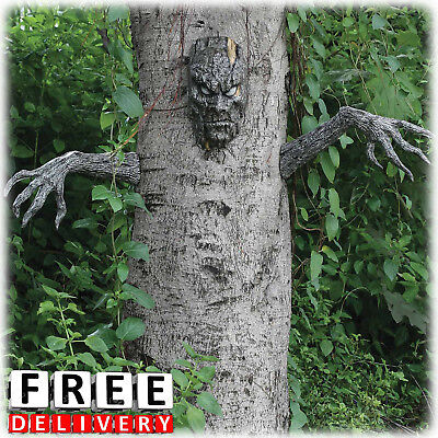 Halloween Tree Decoration Ornament Spooky Living Fun Scary Indoor Outdoor Decor - Halloween Outdoor Tree Decorations