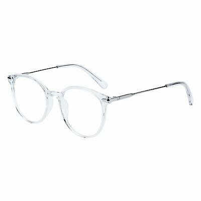 Round Non-Prescription Eyeglasses Transparent Frame Clear Lens Glasses for (Women Prescription Glasses)