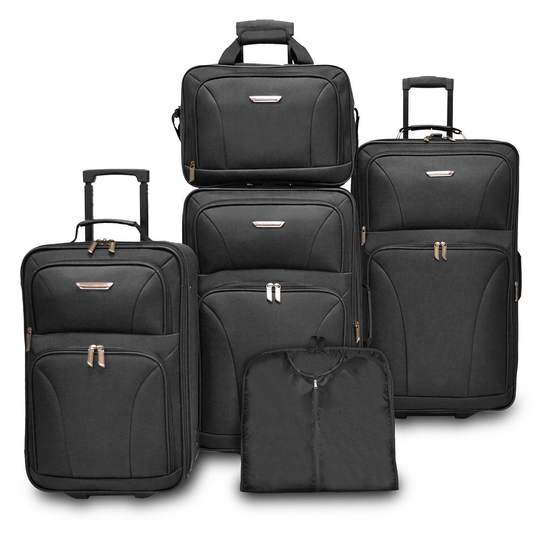 Traveler Choice Versatile 5pc Purple Expand Luggage Tote