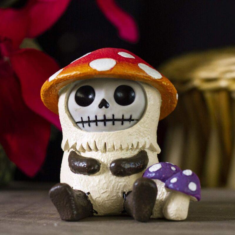 "Ebros 2.75"" Tall Furrybones Kinoko The Fungi Toadstool Mushroom Figurine"
