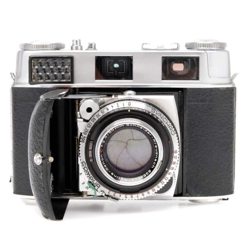 Kodak Retina IIIC Film Camera Kit: 35mm, 80mm, Case, Read