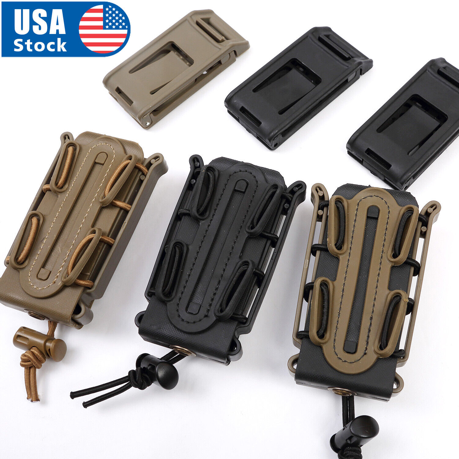 Tactical Scorpion Soft Shell 9mm Pistol Magazine Pouch Carrier Tall w/ Belt Loop Holsters, Belts & Pouches