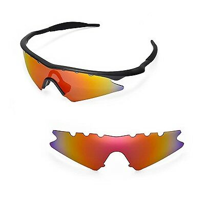 New WL Polarized Fire Red Vented Replacement Lenses for Oakley M Frame Sweep - Frame Sunglasses Vented Sweep