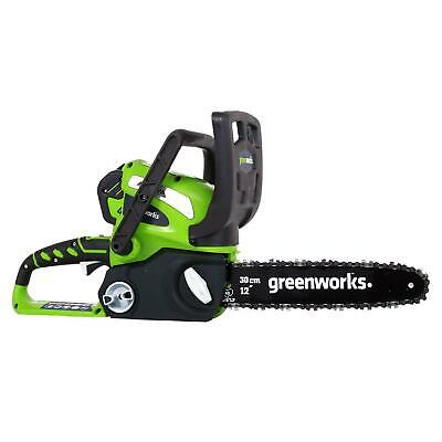 Greenworks 12-Inch 40V Cordless Chainsaw, Battery Not Includ