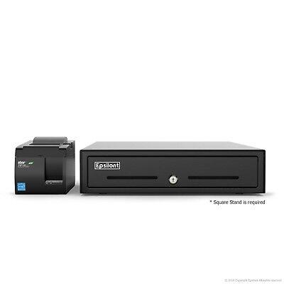 Square Pos Hardware Bundle - Star Micronics Tsp143iiu Usb Receipt Printer And Ep