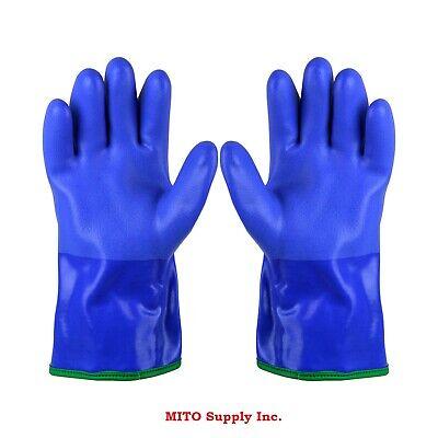 Atlas Gloves Blue Insulatedliquid Proof Oil Resistant Gloves- 490lg- Free Ship
