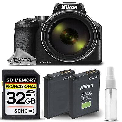 Nikon COOLPIX P950 Digital Camera 83x Optical Zoom WiFi + EXT BATT - 32GB KIT