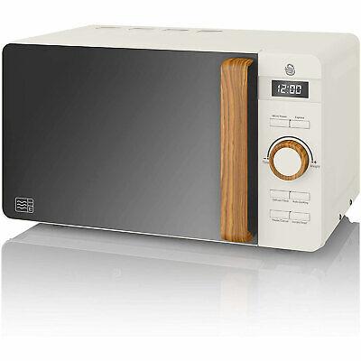 Microondas Digital sin Grill 20L 800W Descongelar Espejo Diseño SWAN NORIC