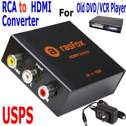 Rasfox Av/3rca To Hdmi Converter 1080p Upscaler For Old V...
