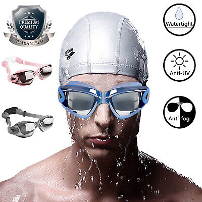 Swimming Goggles Anti UV Fog Protection Electric Plating Glasses Eye Mask (Water Sports Goggles)