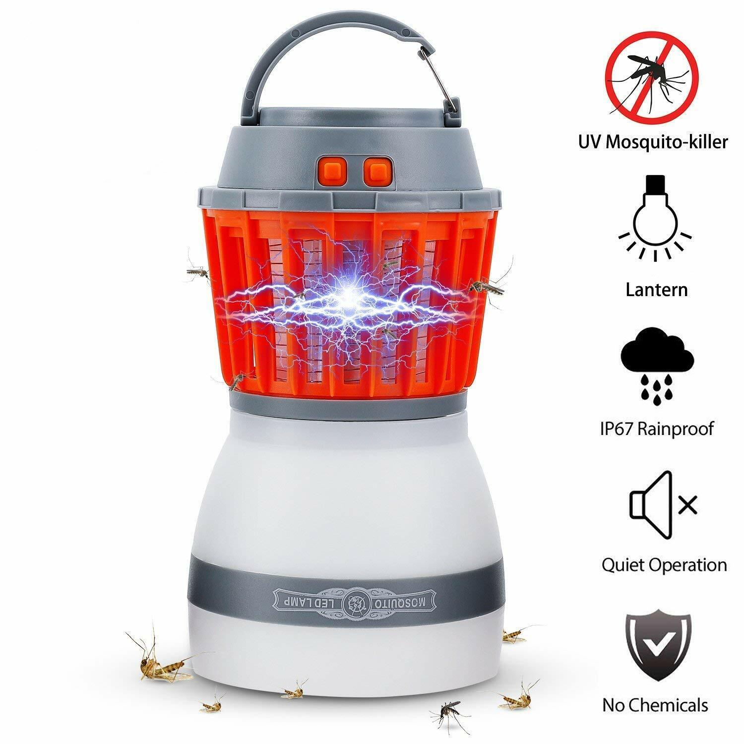 Outdoor Mosquito Killer Lamp Camping Light  Solar LED Electric Fly Insect Zapper