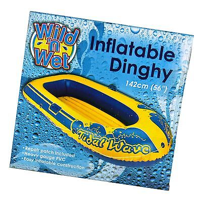 Kids Childs Inflatable Pool Dingy Float Lounger Lilo Beach Sea Blow Up Boat Toy