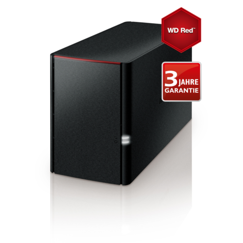Buffalo LinkStation LS220DR NAS System 2-Bay 8TB (2x 4TB WD RED HDD)